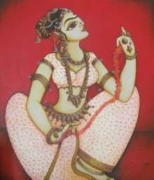 Figurative Acrylic Art Painting title Shringar by artist Rahul Phulkar