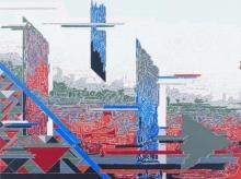 Abstract Acrylic Art Painting title Symphony In Grey 1 by artist Veena Chitrakar