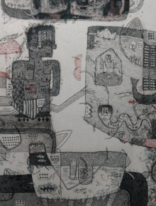 art, drawing, paper, ink& charcoal, contemporary