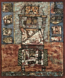Sagar Kamble Paintings | Mixed-media Painting - Towards The Culture 2 by artist Sagar Kamble | ArtZolo.com