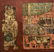 contemporary Mixed-media Art Painting title Towards The Culture 3 by artist Sagar Kamble