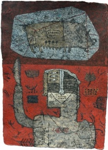 contemporary Mixed-media Art Painting title Towards The Culture 5 by artist Sagar Kamble