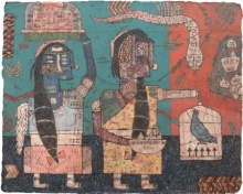 contemporary Mixed-media Art Painting title Towards The Culture 6 by artist Sagar Kamble
