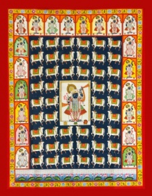 Traditional Indian art title Gopashtami With 20 Shringars on Cloth - Pichwai Paintings