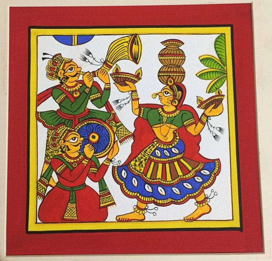 Festive Celebrations 1 by Unknown | phad Paintings | Cloth Traditional Art