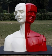 Fiberglass Sculpture titled 'Shades Of Life 2' by artist Vivek Kumar