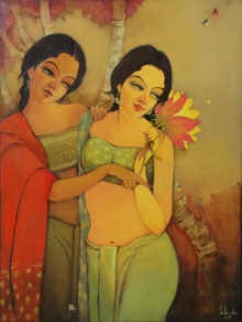 Figurative Oil Art Painting title 'Swarup' by artist Renuka Fulsounder