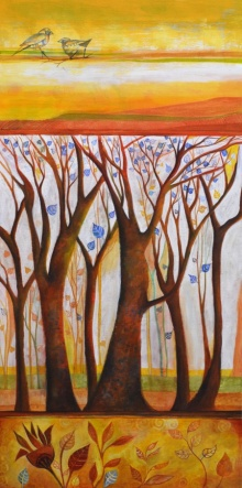 Nature Acrylic Art Painting title In The Woods by artist Shilpa Pachpor
