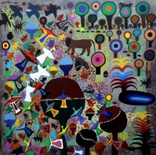 contemporary Acrylic Art Painting title Untitled 67 by artist Amit Harit