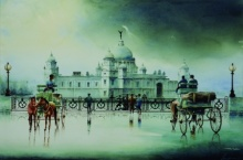 A Cloudy Day Kolkata | Painting by artist Arup Lodh | watercolor | Fabriano Paper