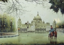 An Afternoon In Kolkata 2 | Painting by artist Arup Lodh | watercolor | Paper