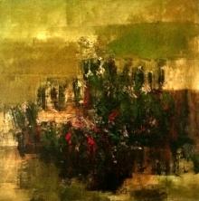 Abstract Acrylic-oil Art Painting title Untitled 13 by artist Vipta Kapadia