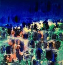 Abstract Acrylic-oil Art Painting title Untitled 14 by artist Vipta Kapadia