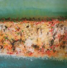 Abstract Oil Art Painting title Untitled 17 by artist Vipta Kapadia