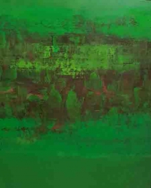 Abstract Oil Art Painting title Untitled 19 by artist Vipta Kapadia