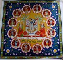 Yugdeepak Soni | Pichwai Traditional art title Shrinathji 12 Pichwai Painting on Cloth | Artist Yugdeepak Soni Gallery | ArtZolo.com
