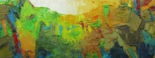 Abstract Oil Art Painting title 'Song Of Peace 2' by artist Abhishek Kumar