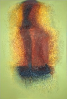 Abstract Mixed-media Art Painting title Untitled 1 by artist Sanju Jain