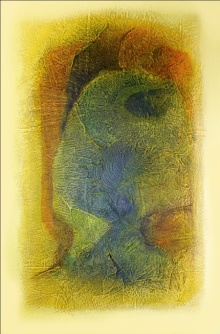 Abstract Mixed-media Art Painting title Untitled 5 by artist Sanju Jain