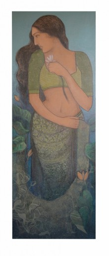 Figurative Acrylic Art Painting title 'UNTITLED' by artist Bhakti Lad