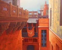 Banaras | Painting by artist Anil Yadav | acrylic | Canvas