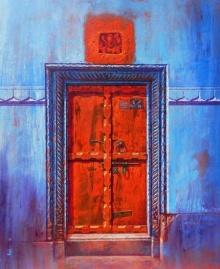 Varanasi 3 | Painting by artist Anil Yadav | acrylic | Canvas