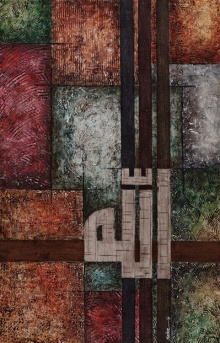 Allah 2 | Mixed_media by artist Salva Rasool | Canvas