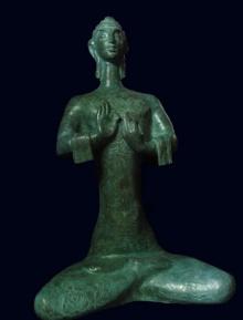 Bronze Sculpture titled 'Buddha' by artist Somnath Chakraborty