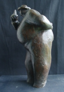 Somnath Chakraborty | Judgement Sculpture by artist Somnath Chakraborty on Bronze | ArtZolo.com