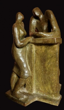 Somnath Chakraborty | Stolen Moment Sculpture by artist Somnath Chakraborty on Bronze | ArtZolo.com