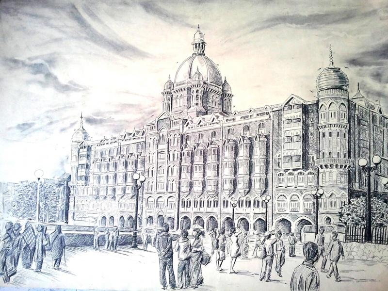 Prashant Sinha hotel Taj Mahal Mumbai Me Drawing by Prashantarts   Fine Art  - ArtZolo com