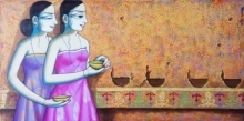 Enlighting | Painting by artist Pravin Utge | acrylic | Canvas