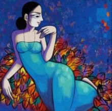 Pravin Utge | Acrylic Painting title Untitled 1 on Canvas | Artist Pravin Utge Gallery | ArtZolo.com