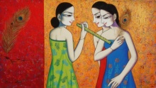 Pravin Utge | Acrylic Painting title Untitled 5 on Canvas | Artist Pravin Utge Gallery | ArtZolo.com