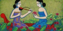 Pravin Utge | Acrylic Painting title Untitled 6 on Canvas | Artist Pravin Utge Gallery | ArtZolo.com