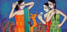 Pravin Utge Paintings | Acrylic Painting - Untitled 7 by artist Pravin Utge | ArtZolo.com