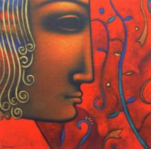 Shiv 5 | Painting by artist Sanjay Bhalerao | acrylic | Canvas