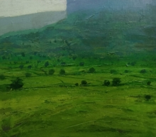 Nature Acrylic Art Painting title 'Landscape 3' by artist Suresh Jangid
