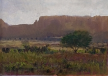 Nature Acrylic Art Painting title 'Landscape 5' by artist Suresh Jangid