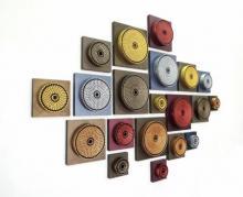 art, sculpture, cardboard, wood, abstract