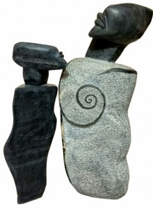 Black Marble Sculpture titled 'Untitled 11' by artist Pradeep Jogdand