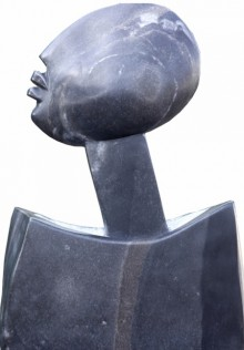 Black Marble Sculpture titled 'Untitled 3' by artist Pradeep Jogdand