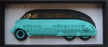 Acrylic Glass Sculpture titled 'Carrus 1' by artist Haribaabu Naatesan
