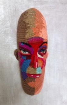 Mixed Media Sculpture titled 'Face 17' by artist Archana Rajguru