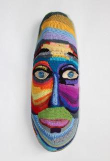 Mixed Media Sculpture titled 'Face 2' by artist Archana Rajguru