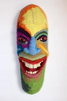 Mixed Media Sculpture titled 'Face 8' by artist Archana Rajguru