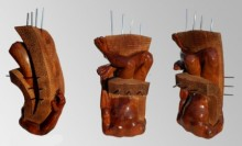 Wood, Metal Sculpture titled 'Hidden In My Life 14' by artist Dharam Netam