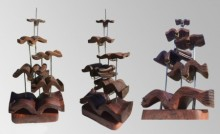 Wood, Metal Sculpture titled 'Hidden In My Life 2' by artist Dharam Netam