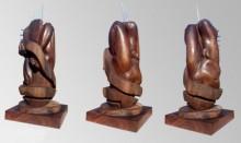Wood, Metal Sculpture titled 'Hidden In My Life 5' by artist Dharam Netam