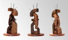 Wood, Metal Sculpture titled 'Hidden In My Life 8' by artist Dharam Netam